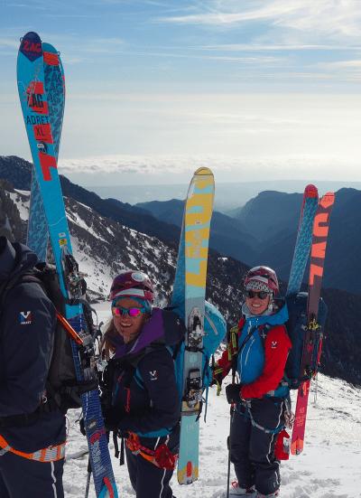Le Groupe Féminin de Haute Montagne en ski de rando au Mont Olympe